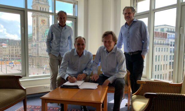 Dunfermline owners: (L-R) Keretic, Teller, Gundermann, Meggle
