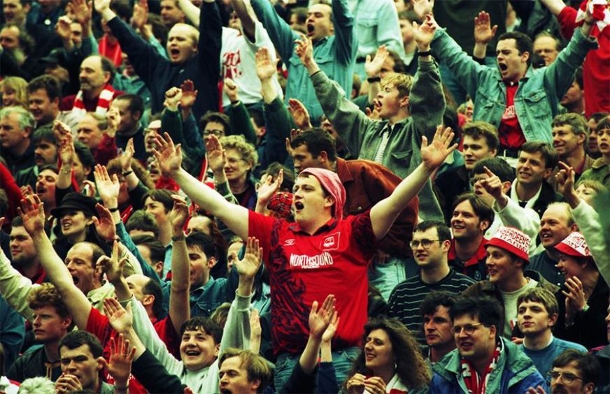 Aberdeen supporters in 1995
