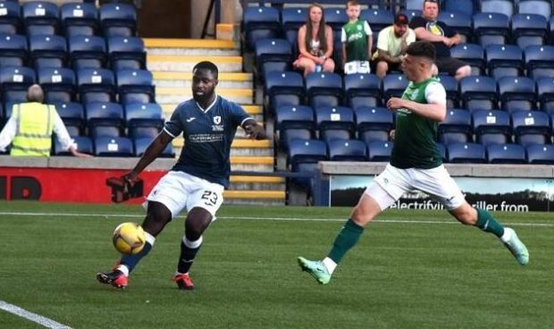 Riley-Snow in action against Hibs