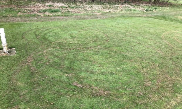 the damaged golf course at Caird Park