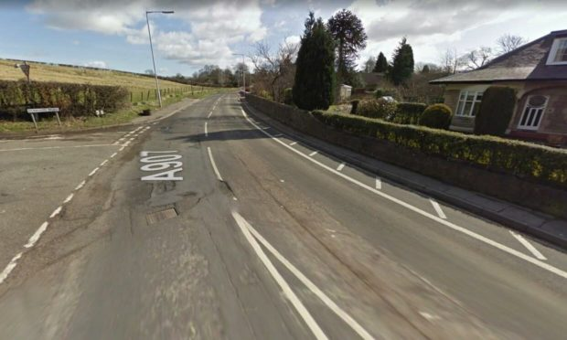 The site of the crash in Carnock, Fife