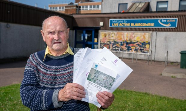 James Reeves, 90, from Beeches Road, believes parking issues on his street will only get worse due to plans for the new recreation centre in Blairgowrie.