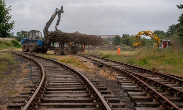 The entire five miles of track will be lifted before the new one is laid.