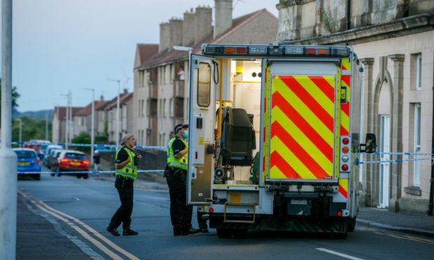 Lochgelly on Friday amid a disturbance