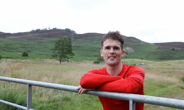 Kenny Rattray who is training for his next big race
