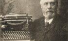 Dundee businessman John J Deas with his Deas Caligraph