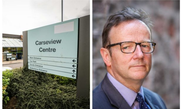 Dundee's Carseview Centre and David Strang.