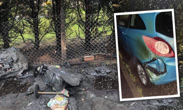 Damage caused by Rosyth firebug attacks