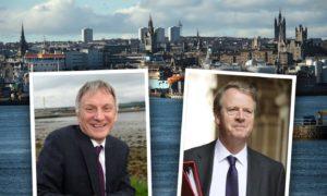 Scottish Government trade minister Ivan McKee, left, and UK Government Scottish Secretary Alister Jack.