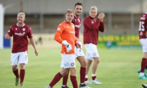 David Gold: How Arbroath midfielder ended up in goals – and why Lichties pals 'were killing themselves laughing'