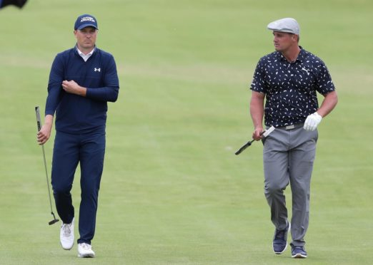 Bryson DeChambeau trailed playing partner Jordan Spieth by six shots after the first round.