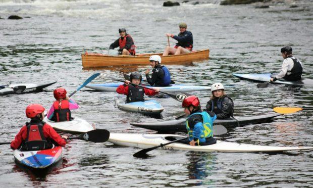 Strathallan Canoe Club on the Tay.