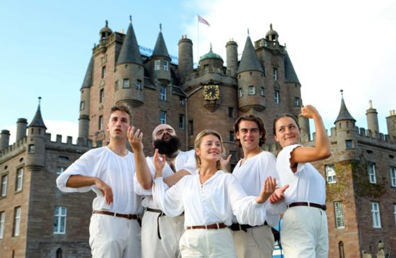The Three Inch Fools at Glamis Castle. Pictures: Gareth Jennings/DCT Media.