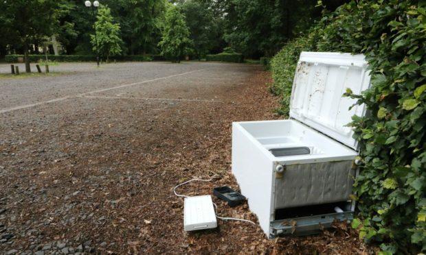 A fridge freezer has been dumped at Camperdown.