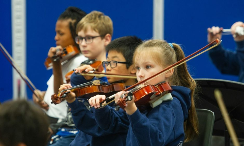 Children's orchestra in Dundee, pre Covid-19.