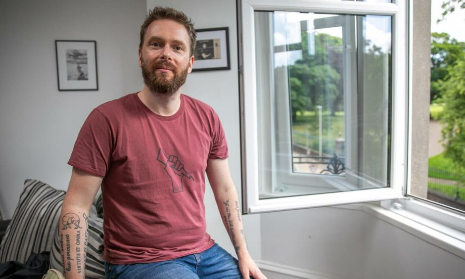 George Connor, who teaches English at the Angus school, has set up a website which he hopes will help the subject flourish in Scotland after years of decline.