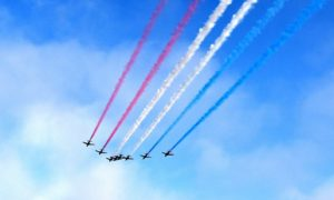 Communities across the north-east could get one last glimpse of the Red Arrows. Pic: Joe Giddens/PA Wire