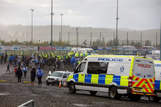 Fans gathered at McDiarmid Park to celebrate St Johnstone's Scottish Cup win.