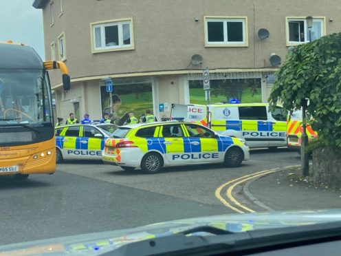 The incident triggered a heavy police response.