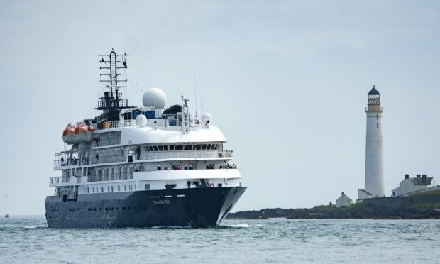 The MS Island Sky arrives in Montrose.