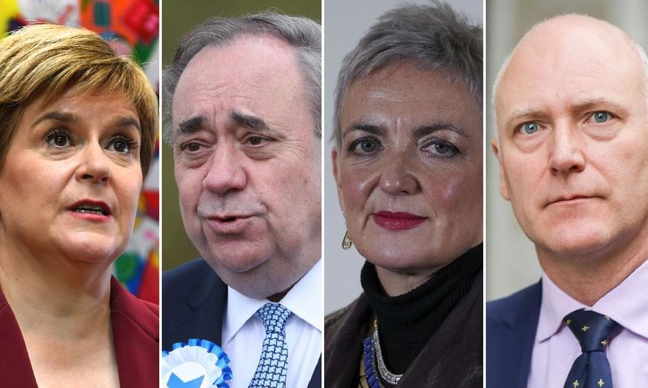 First Minister Nicola Sturgeon, former first minister Alex Salmond, drug policy minister Angela Constance and former Public Health minister Joe FitzPatrick