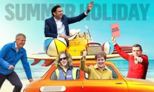 Scotland's political leaders get set for some fun in the summer sun.