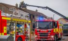 Seven fire appliances were despatched to tackle the blaze at a house in Douglas.
