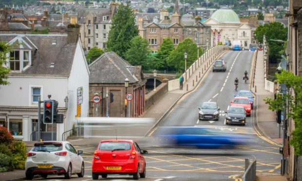 bridgend perth roadworks