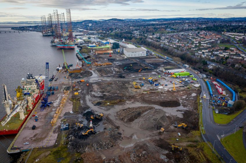 Work ongoing at the Port of Dundee