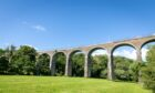 The youngster sped over the Leslie viaduct