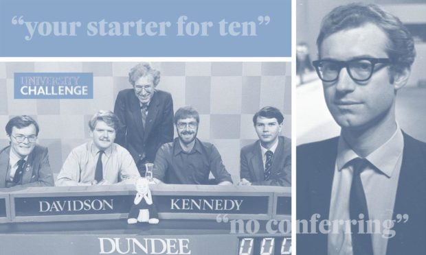 The team from the University of Dundee triumphed in the 1983 University Challenge.