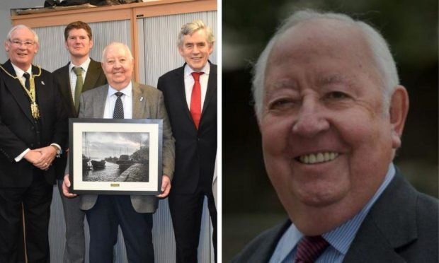 Bill Taylor alongside Jim Leishman and Gordon Brown.