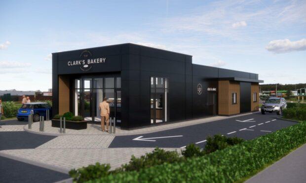 Clark's Bakery drive-thru plans.