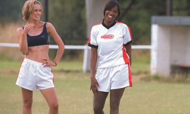 A scene from the film, Bend It Like Beckham.