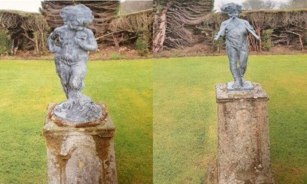 cherub statues stolen Kinross