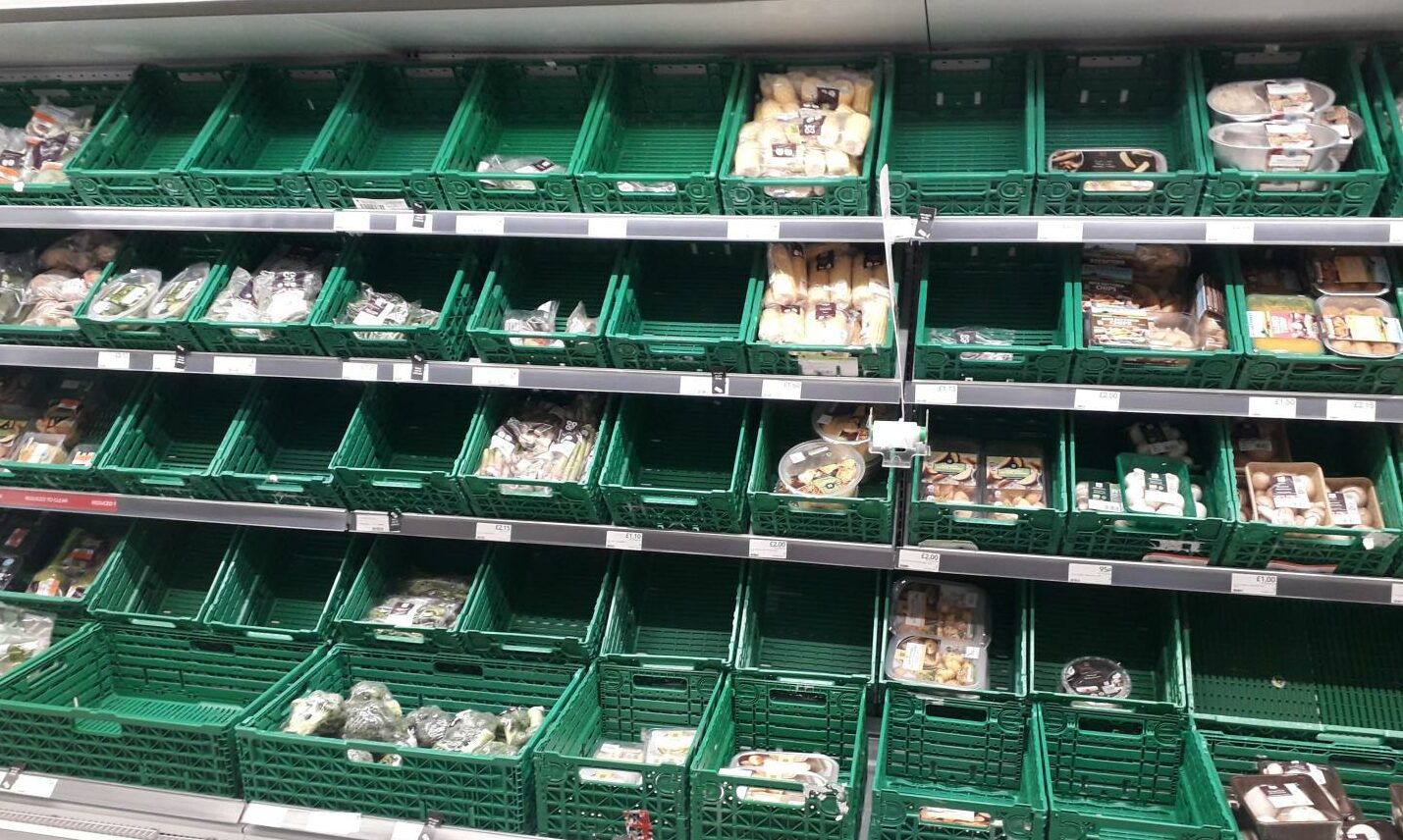 Retail chiefs say consumers will need to get used to empty produce shelves.