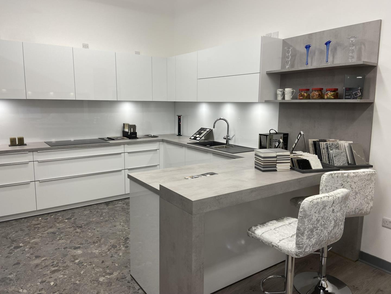 A minimalist kitchen design.