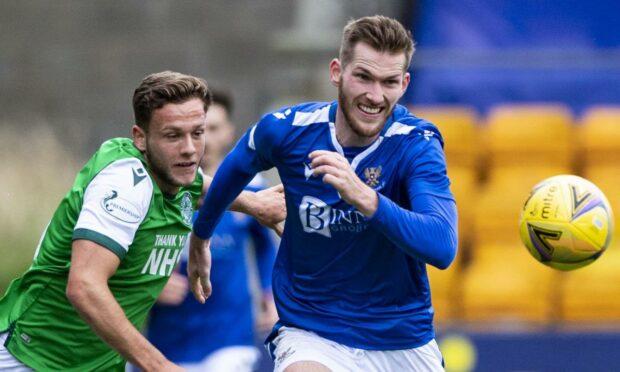 Jamie McCart in action against Hibs.