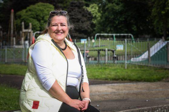 Councillor Lynne Short at Baxter Park.