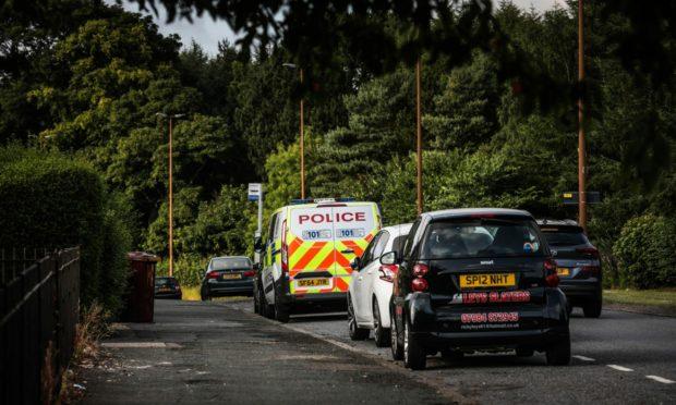 Police in Old Glamis Road.