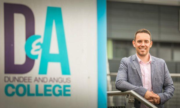 Dundee and Angus College principal Simon Hewitt.