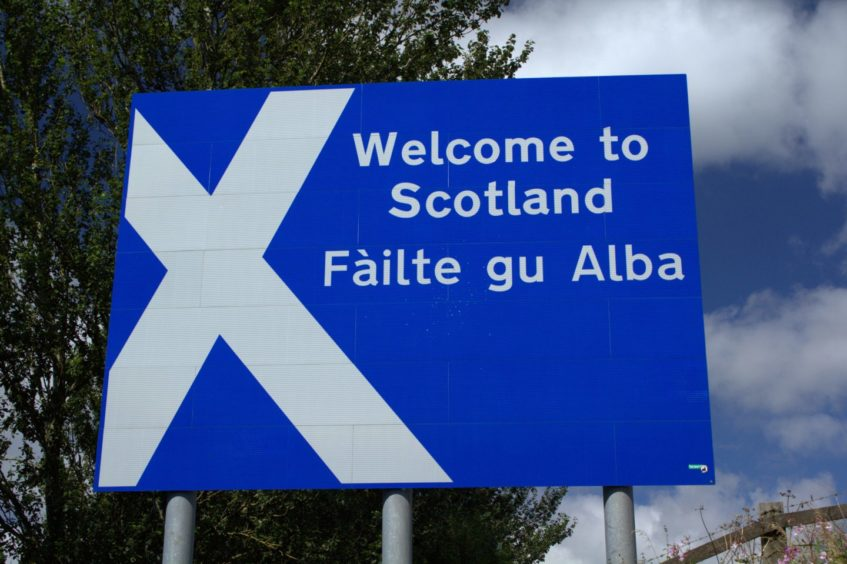 The border between England and Scotland