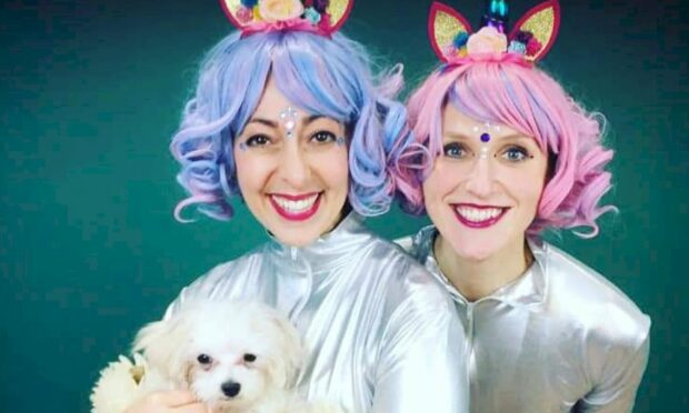 Unicorn Dance Party's Sarah Rose Graber and Ruxy Cantir.