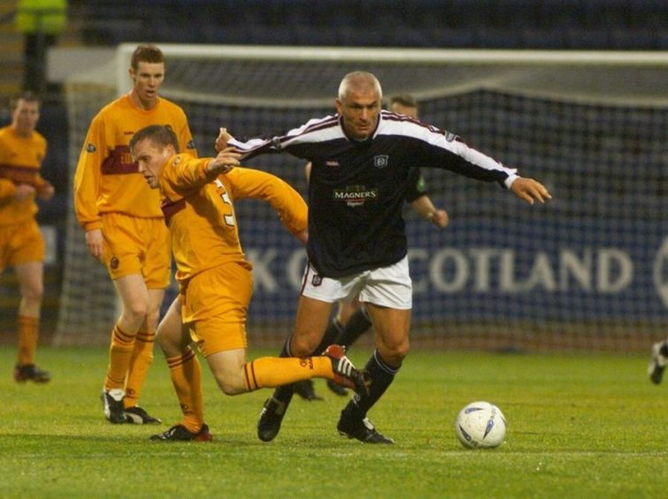Champions League winner, Fabrizio Ravanelli (The White Feather) joined the Dens Park club in 2003.