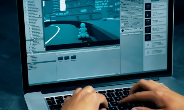 A game being made on the Unity platform.