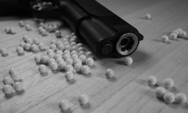 A BB airgun and pellets