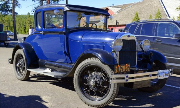 A 1930s Ford Model A, similar to the one involved in the A9 collision.