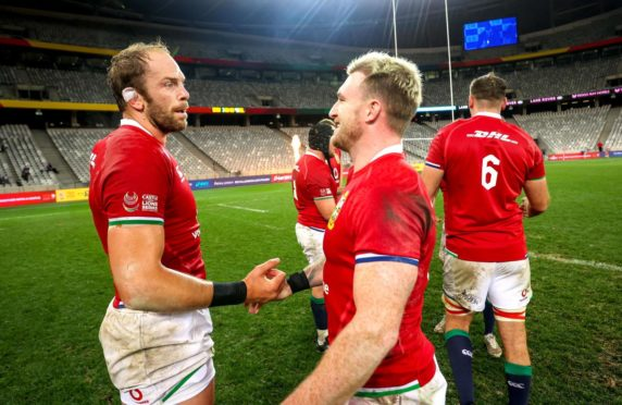 Alun Wyn Jones and Stuart Hogg will lead the Lions in the first test.