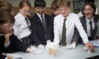 Pupils enjoying lessons at the High School of Dundee open day.
