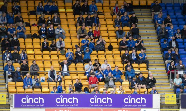 There will be many more St Johnstone fans in the stands on Thursday night.